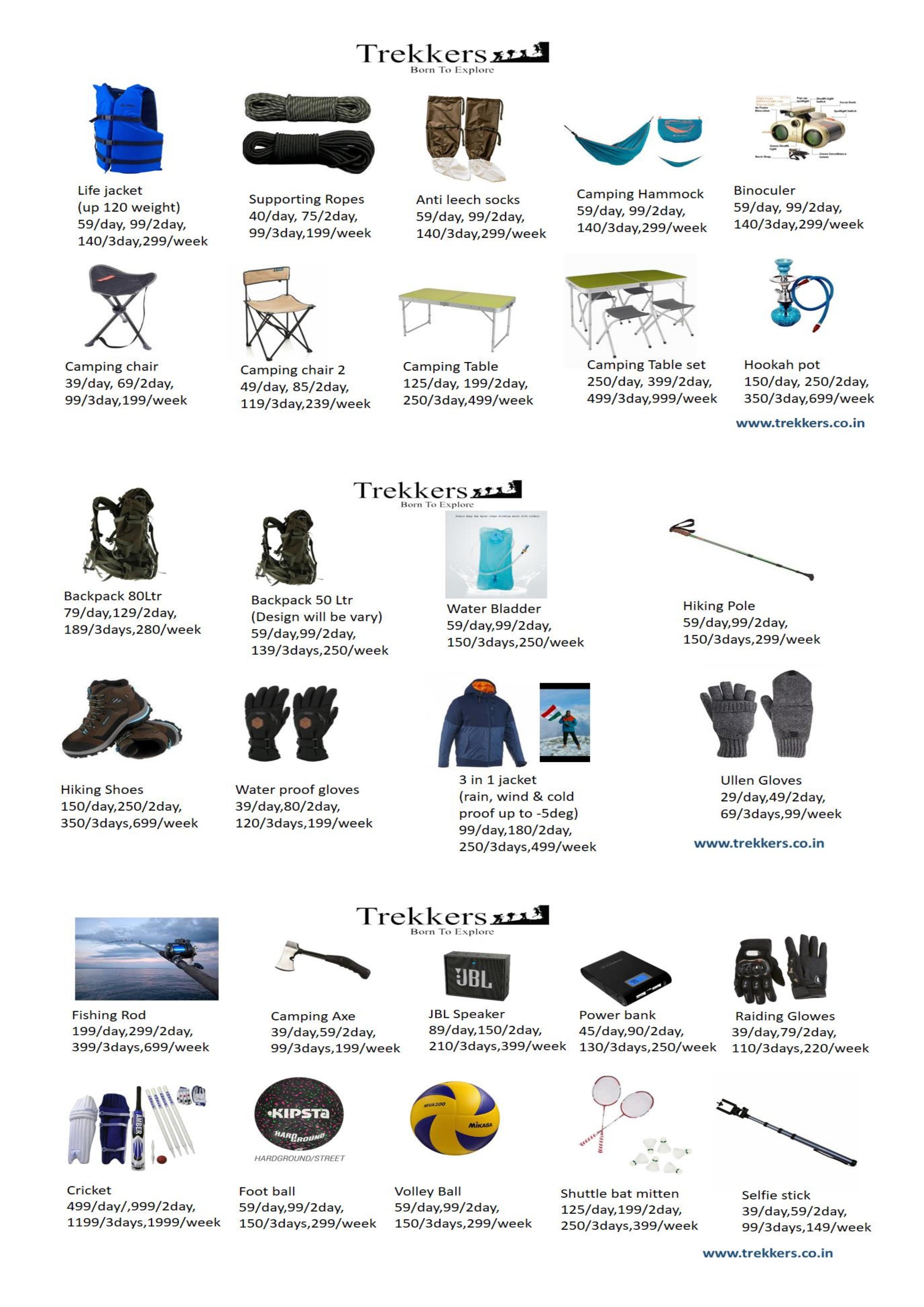 Trekkers Camping Packgas Details