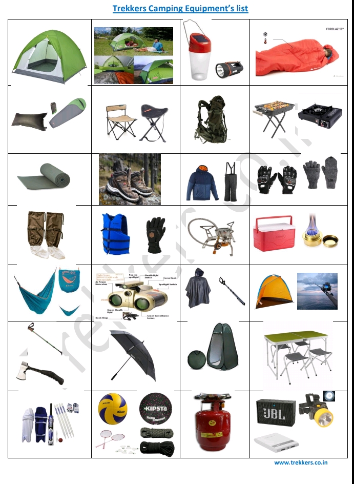trekkers all product price list